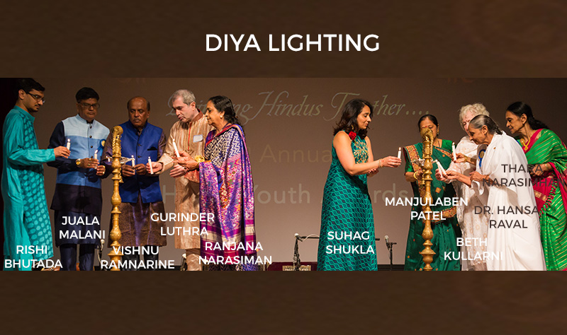 Diya-lighting-Hindu-Youth-awards