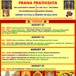 Prana Prathishta at Woodland Hindu Temple